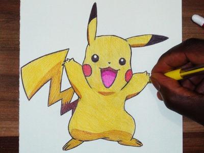 How To Draw Pikachu - Tutorial - DeMoose Art