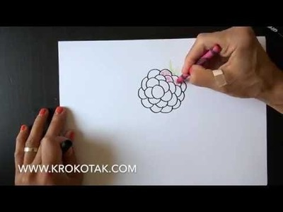 How to draw  raspberry, blackberry, grapes