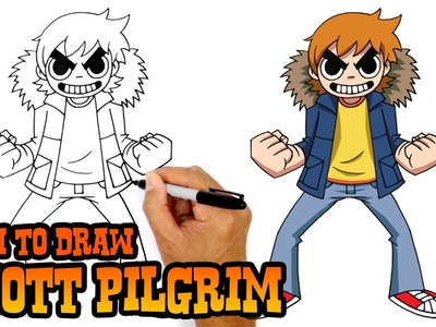 How to Draw Scott Pilgrim- Step by Step Drawing Lesson