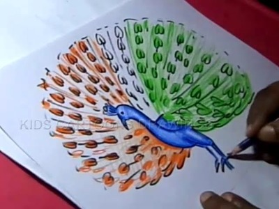 How to Draw Simple Easy Peacock Drawing For kids Step by Step
