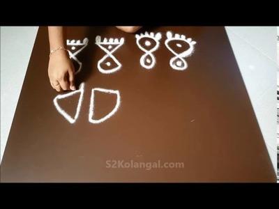 How to draw simple krishnar padam for janmastami. krishna jayanthi kolam