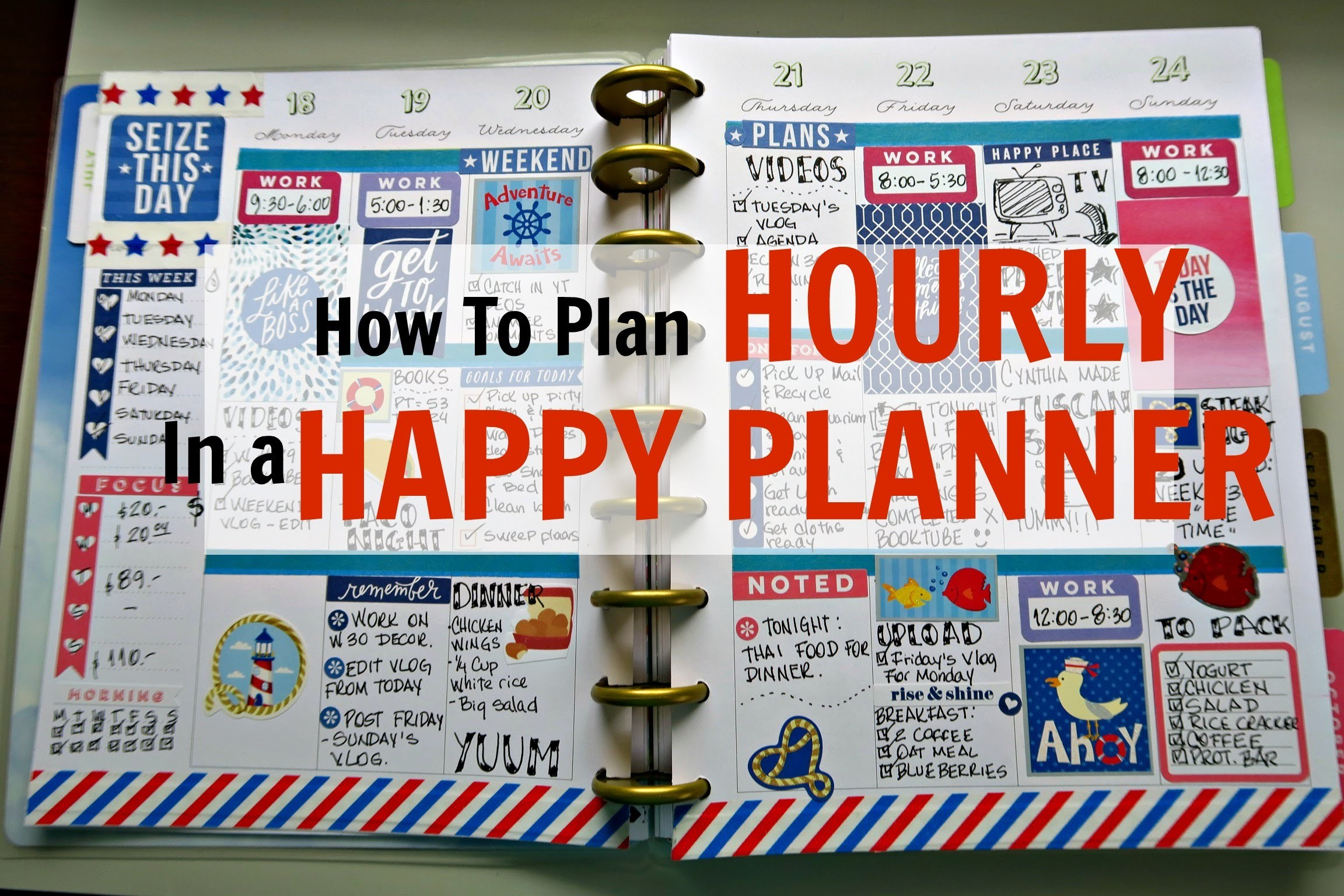 How to Hourly Plan in a Happy Planner