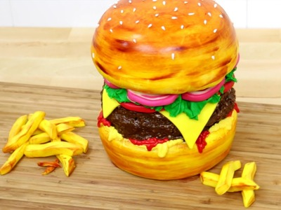 How To Make a Burger Cake by CakesStepbyStep