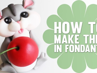 How to make a cute Hamster Cake Topper - Cake Decorating Tutorial