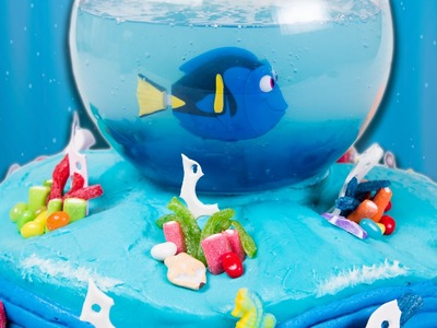 How to make a Finding Dory Cake (Finding Nemo Cake) from Cookies Cupcakes and Cardio