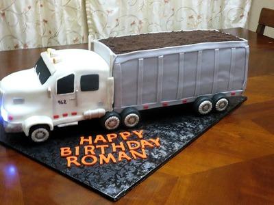 How to make a fondant 3D 18 wheeler truck