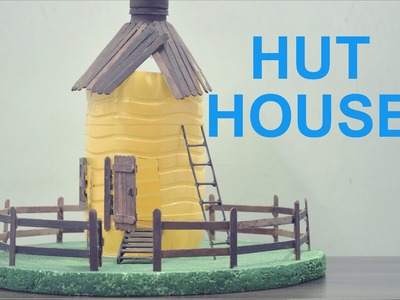 How To Make A Hut House With Empty Plastic Bottles