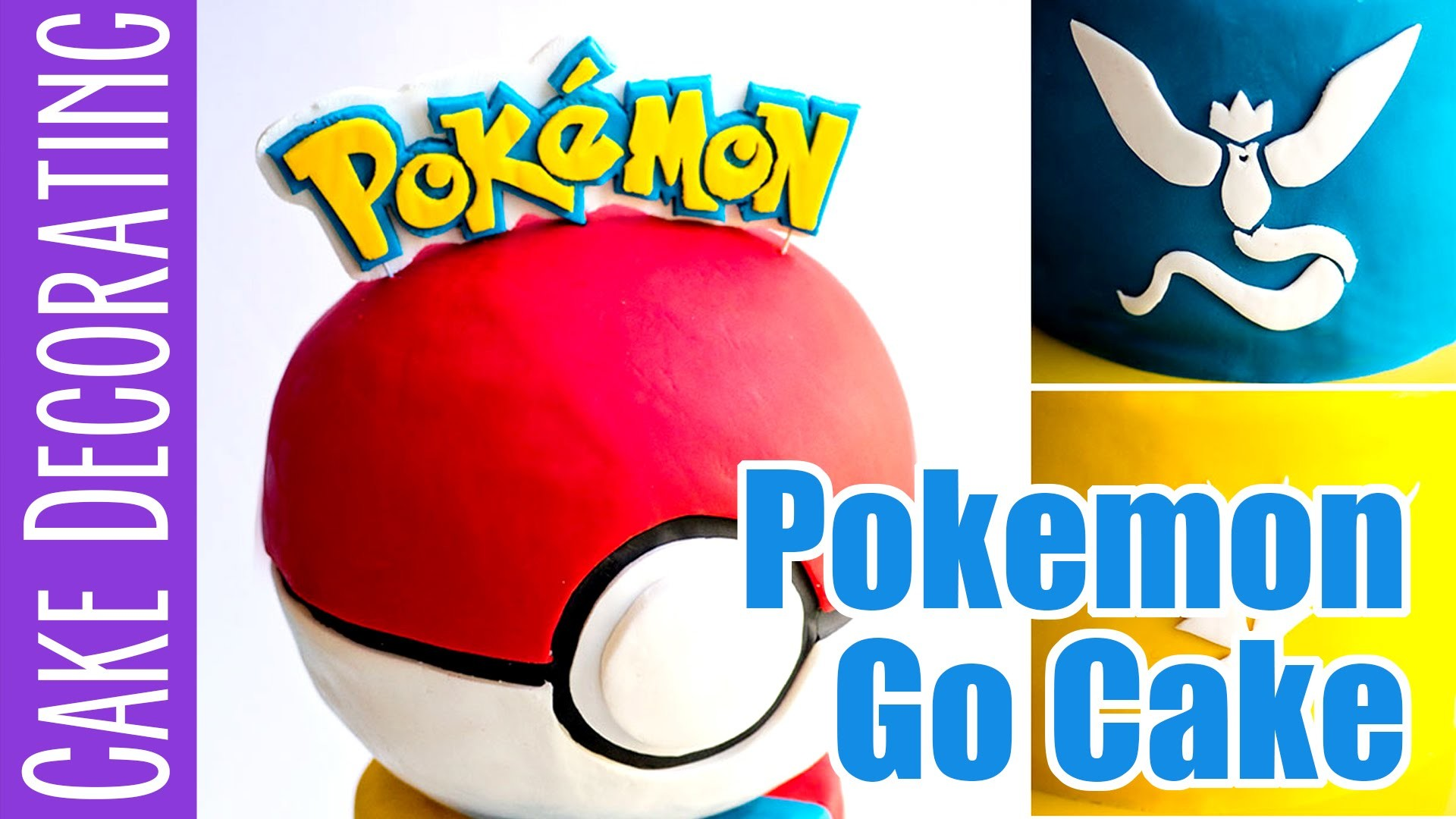 How to make a Pokemon Go Cake - with a Pokeball and team logos - Working With Lemons Collaboration