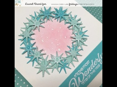 How to make a Snowflake Die Cut Wreath with CAS-ual Fridays