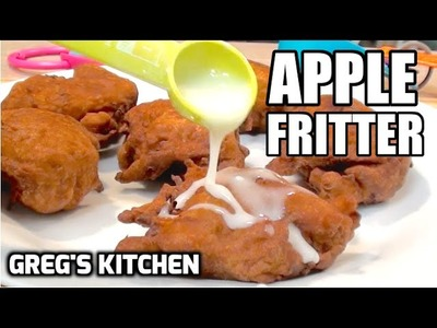 HOW TO MAKE AN APPLE FRITTER - Greg's Kitchen