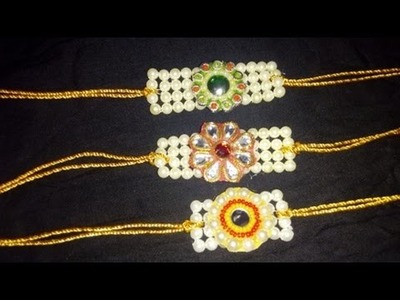 How to make Bracelet Rakhi at home. DIY. Bracelet. Bracelet Rakhi. RakshaBandhan Special