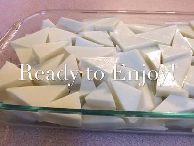 How to Make Coconut Jello or Lao Dessert called Vun