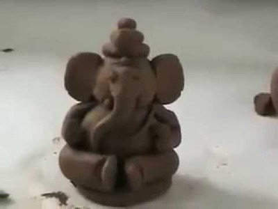 How to make eco friendly ganesh idol at home easiest way to learn