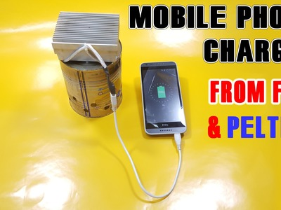 How to make Emergency Phone Charger from Fire and peltier