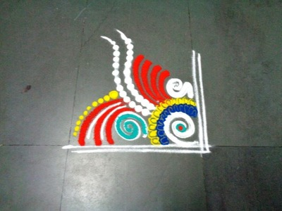 How to make fancy rangoli design  created by latest rangoli