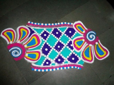 How to make fine rangoli design  created by rangoli design
