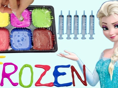 How To Make Glitter Frozen Paint For Kids, Learn Colors for Children, Toddlers and Preschool