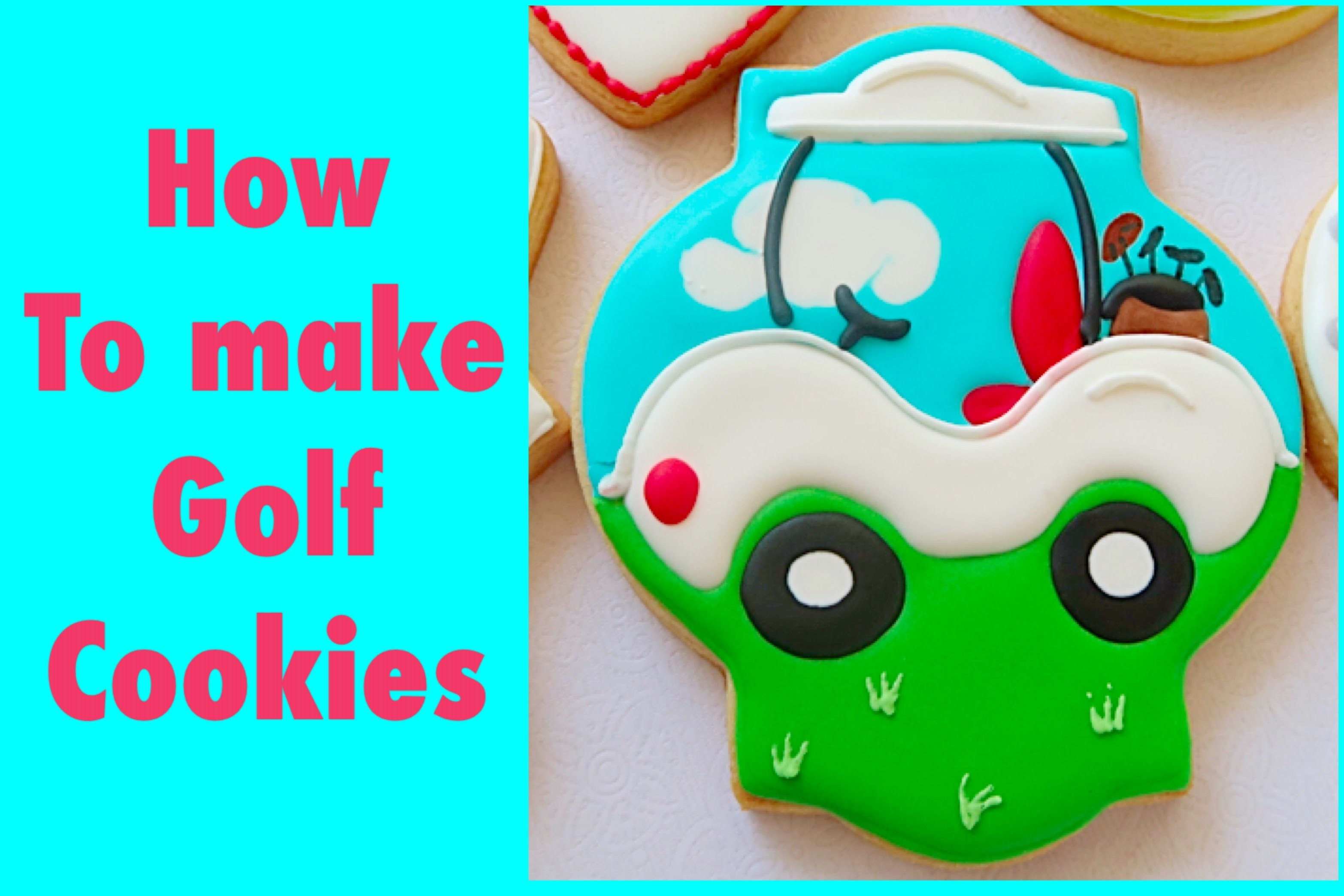 How to make golf cookies. My little bakery.