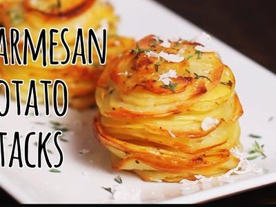 How to Make Parmesan Potato Stacks