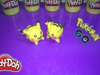How to make pikachu with play doh - pikachu in pokemon go - learn colors with play doh