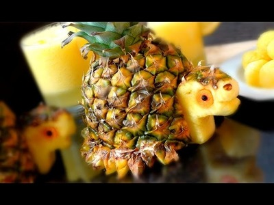 How To Make Pineapple Turtles | Fruit Carving Garnish | Party Food | Food Decoration