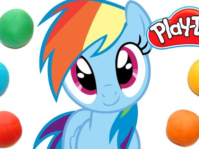 How To Make Rainbow Dash from My Little Pony out of Play Doh | DCTC Play Doh Videos