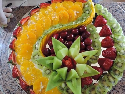 How to Make Sliced ​​Fruit - By J  Pereira Art Carving Fruit and Vegetables