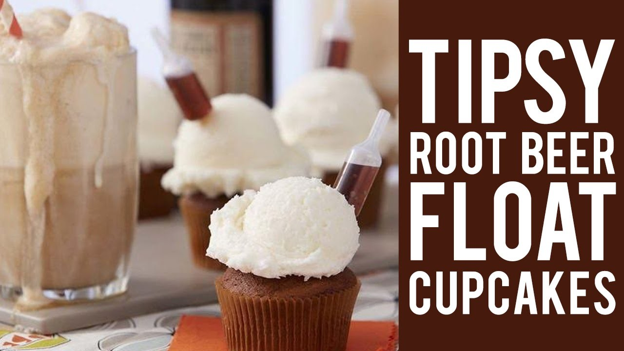 How to Make Tipsy Root Beer Float Cupcakes