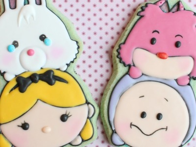 How to make Tsum Tsum Cookies - Alice in Wonderland Tsum Tsum cookies