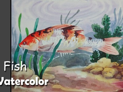 How to Paint A Koi Fish in Watercolor