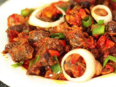 HOW TO: Plantain and gizzard in peppered sauce (DODO GIZZARD)