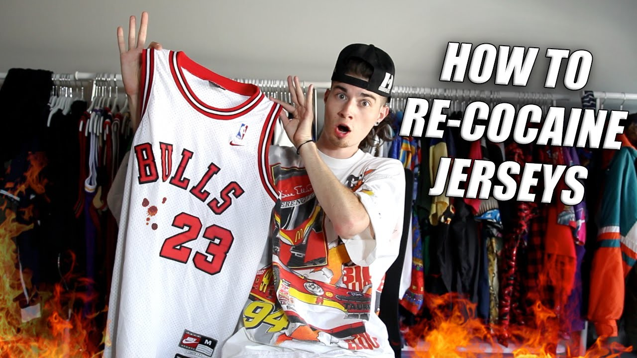 How to Re-Whiten and Remove Stains From Jerseys! Full Restoration!