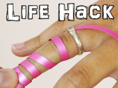 How to Remove a Ring Stuck on Finger - Life Hack