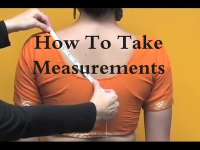 How to take measurements fit blouse 9 steps only . . . .