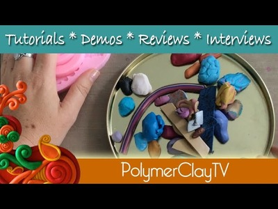 How to use scrap polymer clay and thrift shop finds to create a fun display bust