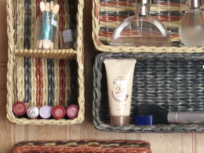 How to weave shelves for keeping makeup. Part 1.