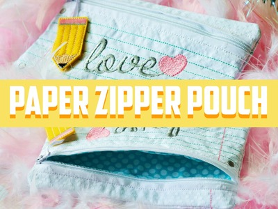 In The Hoop Paper Pouch By Planet Applique