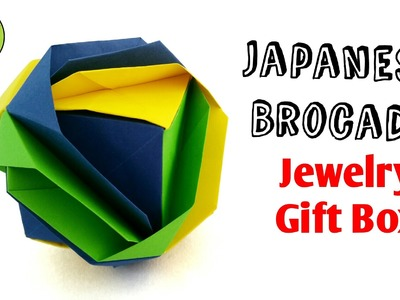 "Modular Origami Tutorial to make Paper ""Cube Jewelry Gift Box 