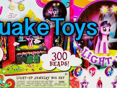 My Little Pony Twilight Sparkle Castle Light Up Jewelry Box Beads DIY MLP CHARMS QuakeToys GIVEAWAY
