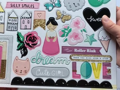New Cute Girl Crate Paper Collection!  Unboxing!  Haul!