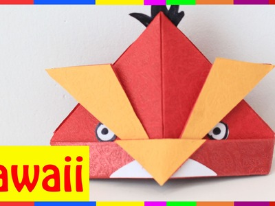 Origami Angry Bird - How To Fold Angry Bird ( Origami Hawaii )