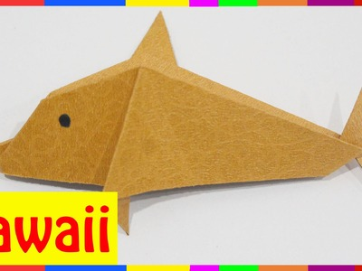 Origami Dolphin - How To Fold Dolphin ( Origami Hawaii )