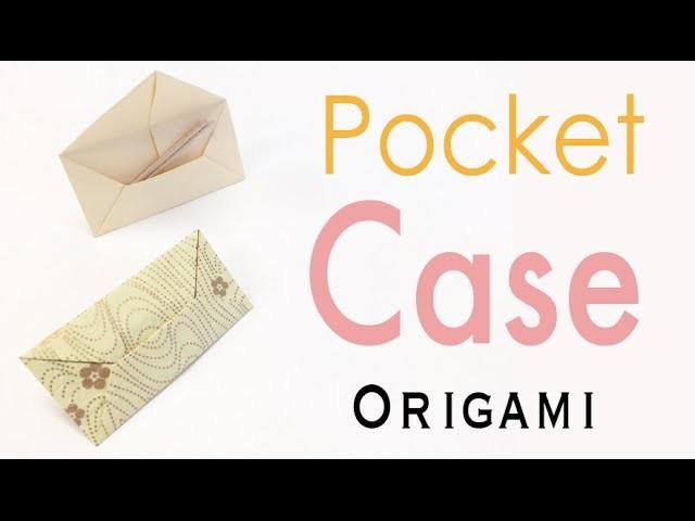 Origami Paper Envelope Shape Pocket Case - Origami Kawaii〔#162〕