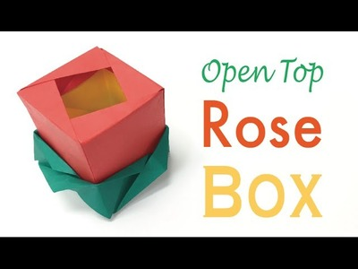 Origami Paper  Open Top Rose Flower Gift Box ✨DIY✨ - Origami Kawaii〔#149〕