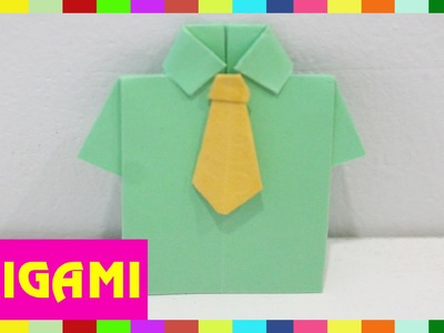 Origami Shirt - How To Fold Shirt ( Kasumi Paper )