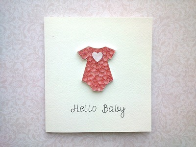 Paper Baby Cards: make paper Quilling Beehive Baby Card. Quilling Card. Baby cards ideas