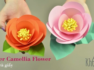Paper Camellia Flower Instruction | Creative DIY