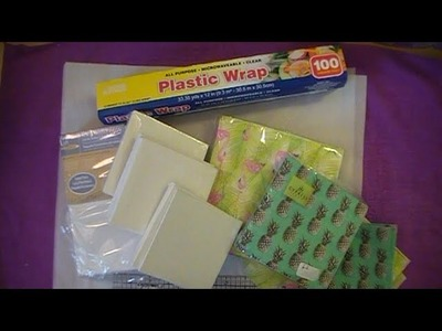 Paper Napkin To Canvas Tutorial