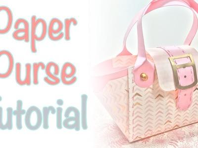 Paper Purse Tutorial   Craftiella Designs
