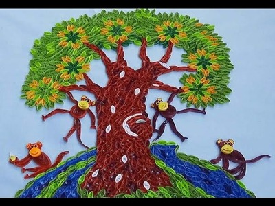 Paper Quilling  How to make Beautiful Quilling Monkeys on the tree - Part 2 (Tutorial)